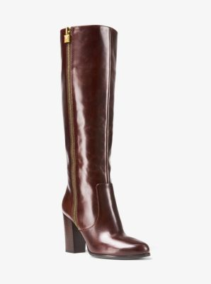 retail prices multiple colors outlet store Margaret Leather Boot | Michael Kors