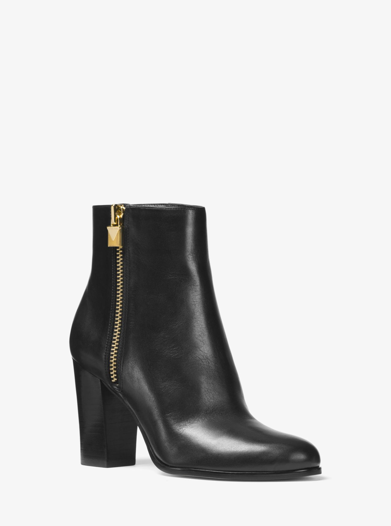 Margaret Leather Ankle Boot   Michael Kors
