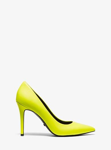 6b65d9ec327 Claire Neon Leather Pump | Michael Kors