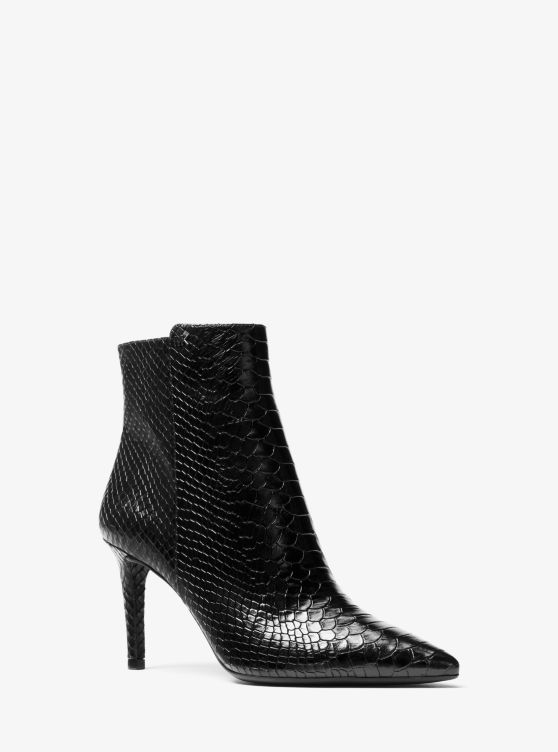 Dorothy Snake Embossed Leather Ankle Boot by Michael Michael Kors