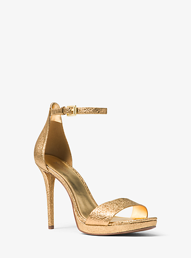 Hutton Metallic Leather Sandal