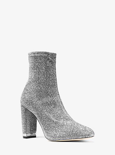 53e848bda52f Mandy Glitter Stretch-Knit Ankle Boot