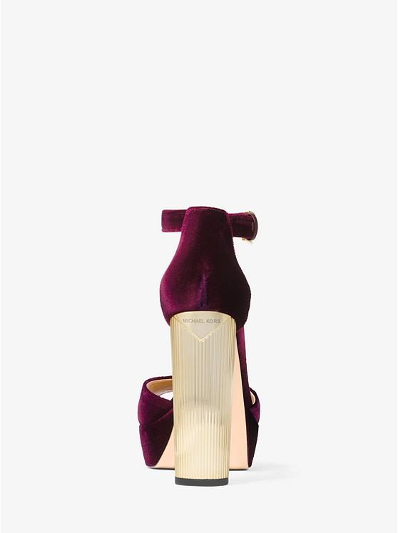 6a9ad68cf05 ... Paloma Velvet Platform Sandal