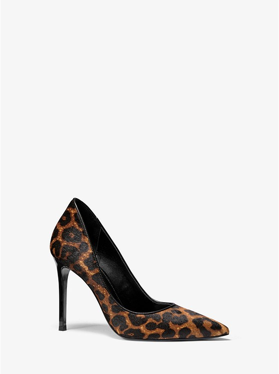 Keke Leopard Calf Hair Pump by Michael Michael Kors