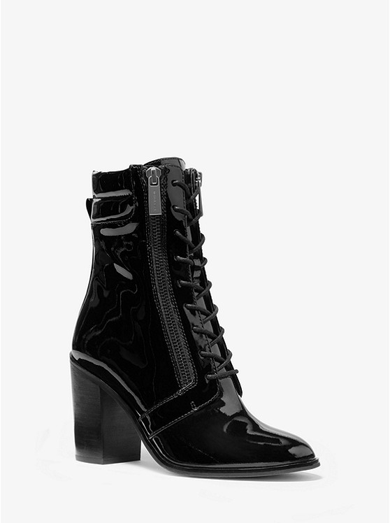 Rosario Patent Leather Lace Up Boot by Michael Michael Kors