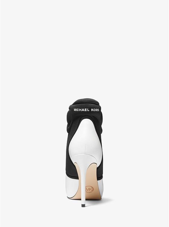 Uma Leather and Scuba Ankle Boot