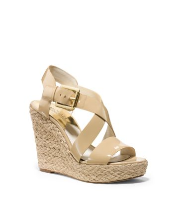 06af1001675 Giovanna Patent-Leather Espadrille Wedge | Michael Kors
