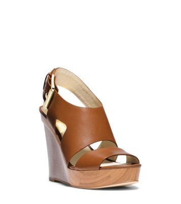 50d23bbdc3 Carla Leather Wedge | Michael Kors