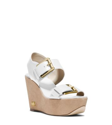 31212762b4 Warren Leather Wedge Sandal | Michael Kors
