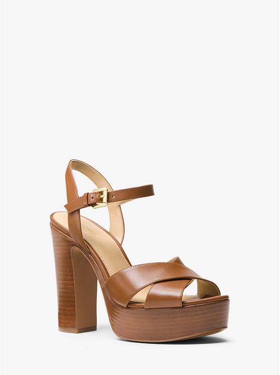 7a1bcb5bf0c2 Sia Leather Platform Sandal ...