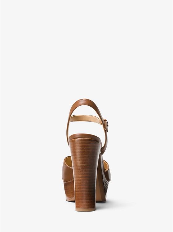 2587a5321b Sia Leather Platform Sandal | Michael Kors