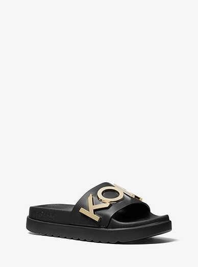 44895aadbe4 Cortlandt Embellished Leather Slide Sandal | Michael Kors