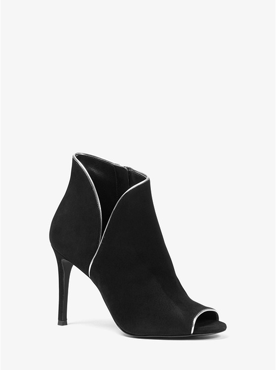 f1691130f03 Harper Suede Open-toe Ankle Boot