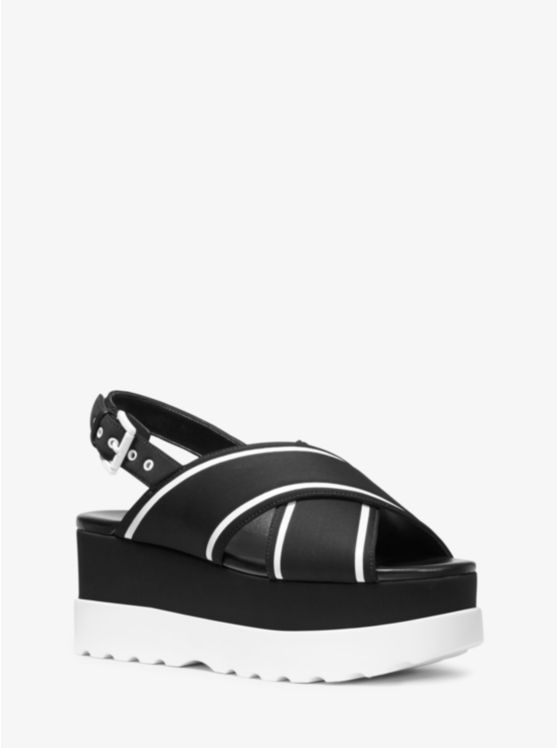 Becker Contrast-Trim Scuba Flatform Sandal