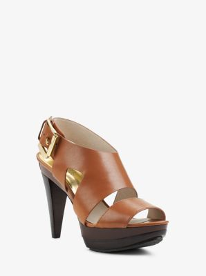 97a4082b7f Carla Leather Platform Sandal | Michael Kors