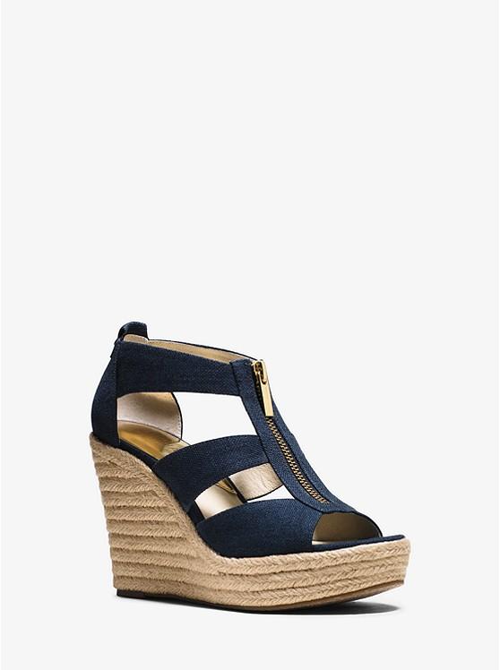 Womens Heels Buy Limited Edition 65906784 Michael Kors Damita Canvas Michael