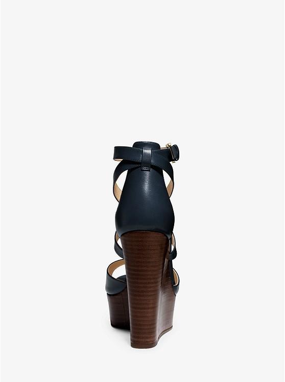 Chaussure Gabriela En Cuir à Semelle Compensée   Michael Kors