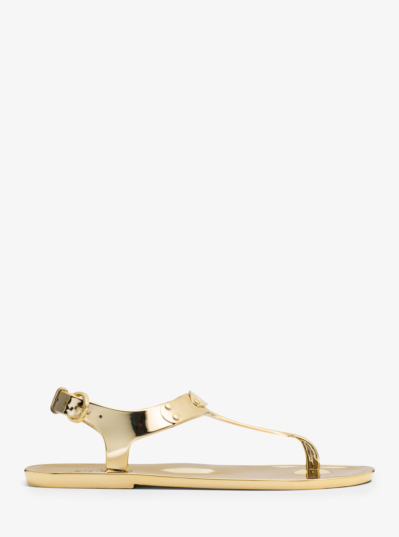 Metallic Jelly Sandal