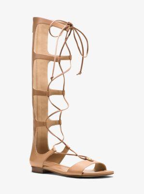 b17bb8418ce Sofia Leather Gladiator Sandal