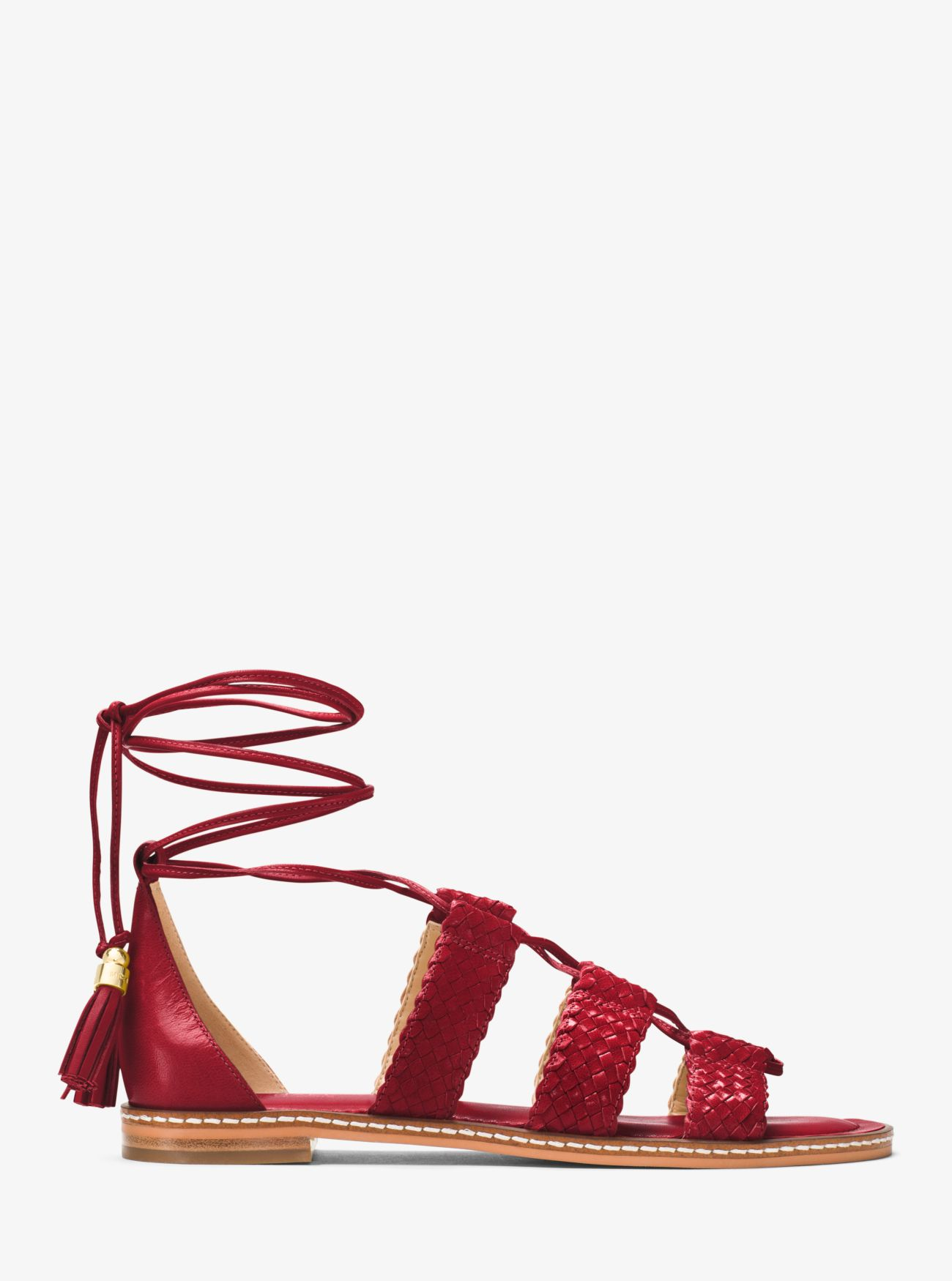Monterey Gladiator Leather Lace-Up Sandal