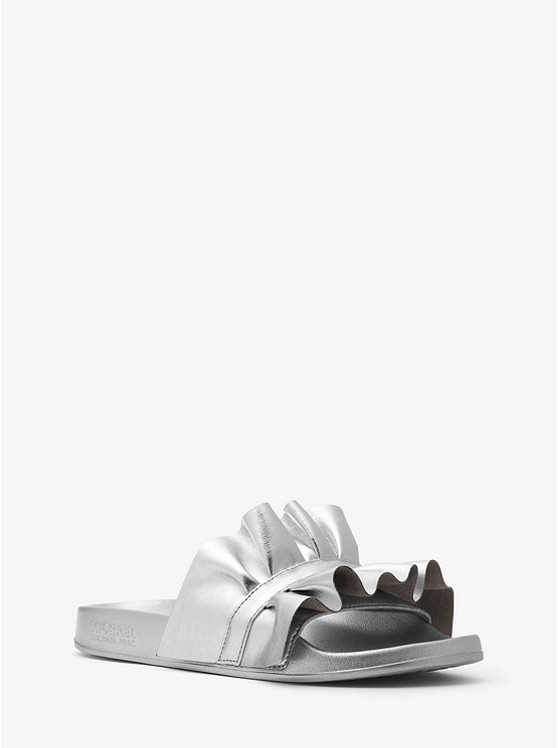High Quality Cheap Price Official Online Bella ruffled slides Under 70 Dollars Cost Cheap Online DAoUdyOADc
