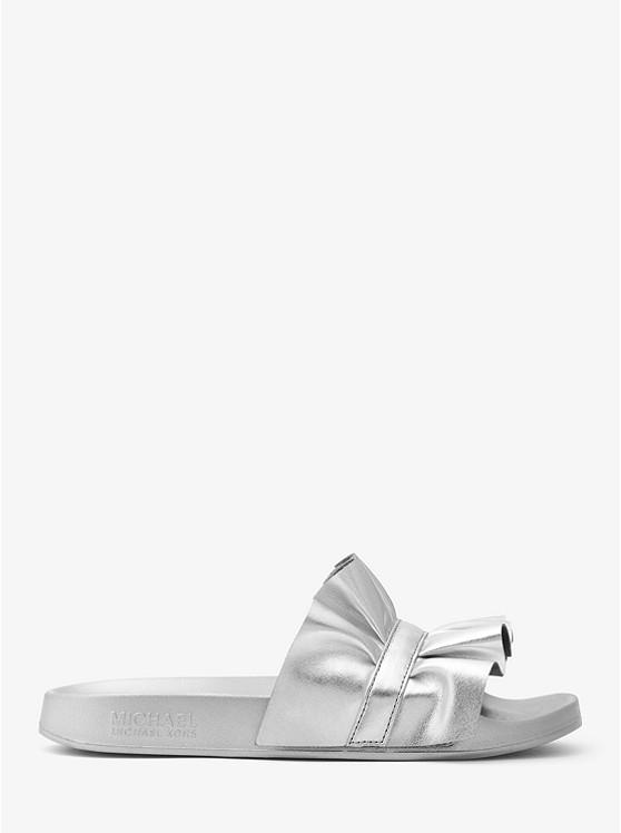 4afa7aef7908 Bella Ruffled Metallic Slide Sandal preview1