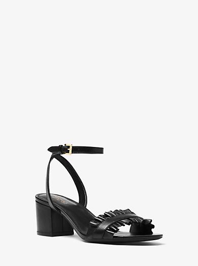 5d96cf7b936 Bella Ruffled Leather Sandal