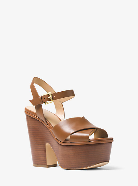 6f5896f6a Divia Leather Platform Sandal. Find a Store. Sign Up for updates from Michael  Kors