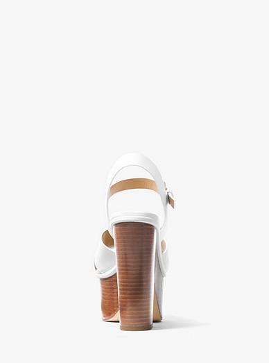 0e0a75855cd Divia Leather Platform Sandal. MICHAEL Michael Kors