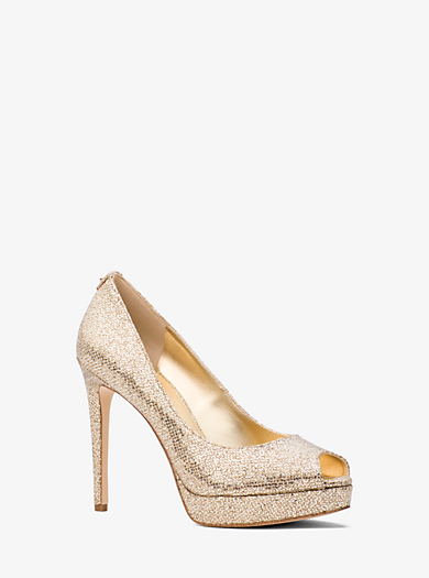 Pumps & High Heels for Women On Sale, Gunmetal, Metallic Leather, 2017, 3.5 5.5 7.5 Michael Kors