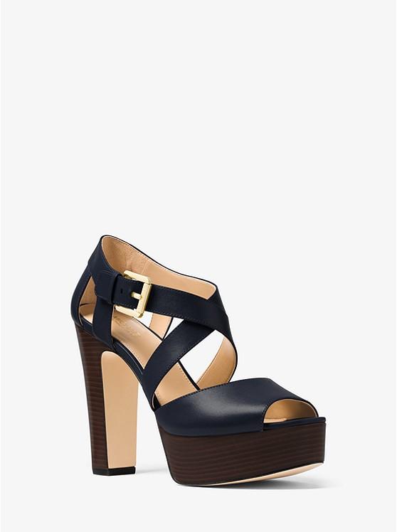 Jodi Leather Platform Sandal ...