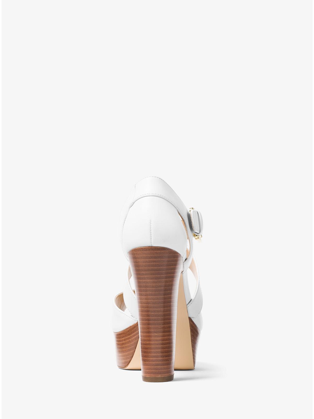 85ca9871d4 Michael Kors Jodi Leather Platform Sandal at £160 | love the brands
