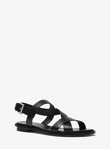 41e055cf81 Mackay Leather Sandal | Michael Kors