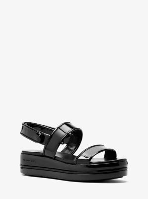 9fd36a32edc6 Peggy Patent Leather Platform Sandal. Find a Store. Sign Up for updates  from Michael Kors