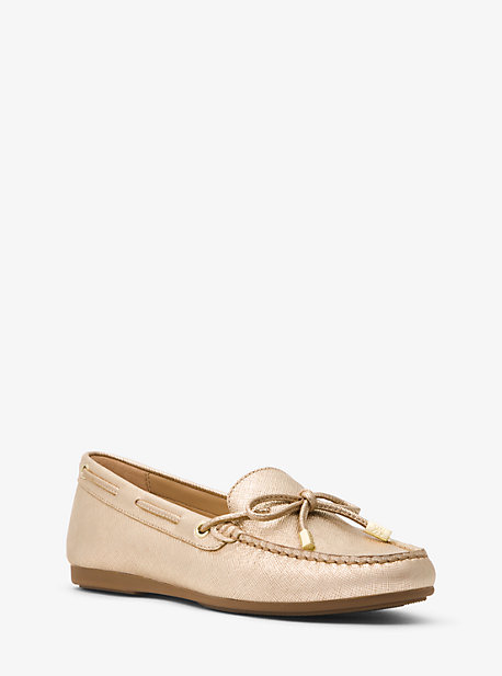 마이클 마이클 코어스 모카신 Michael Michael Kors Sutton Metallic Leather Moccasin,PALE GOLD