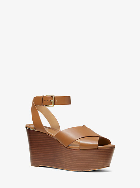 d66147674a8 Abbott Leather Wedge. michael michael kors ...
