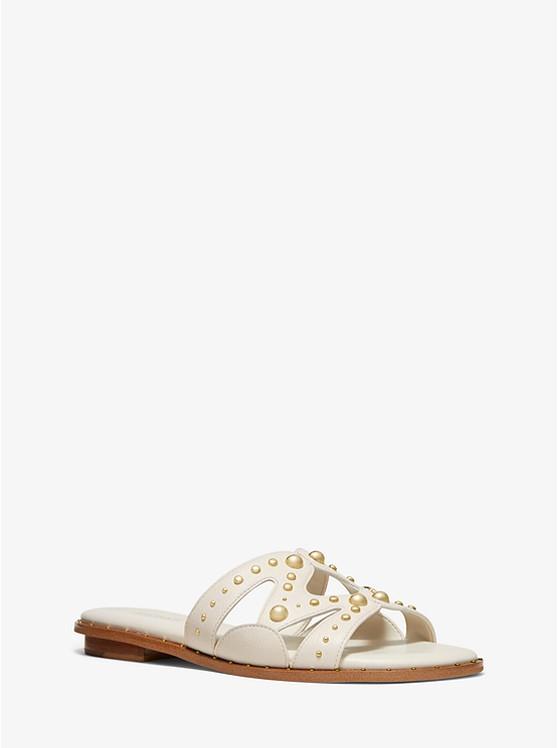 46a93d53da3c Annalee Studded Textured Leather Slide