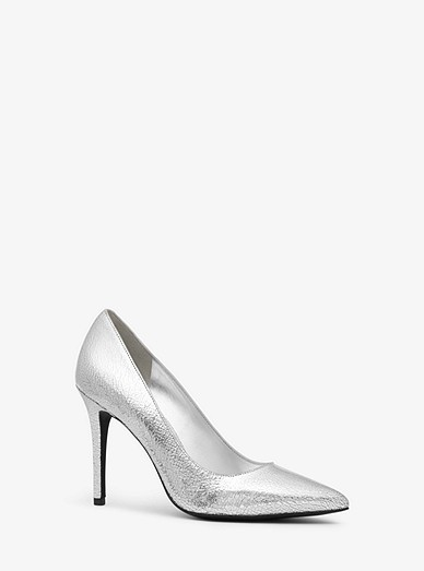 082d411fea38 Claire Crackled Metallic Leather Pump