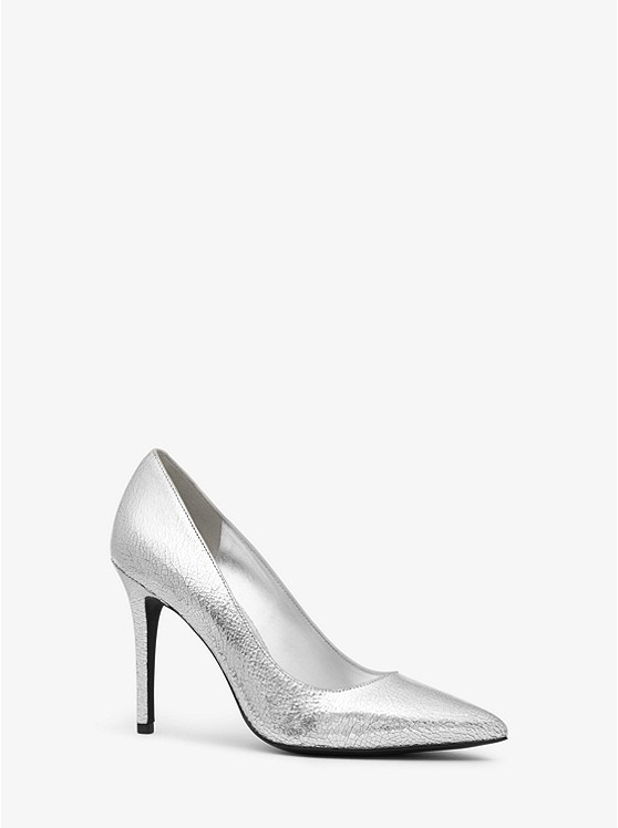 3021e164eb4 Claire Crackled Metallic Leather Pump
