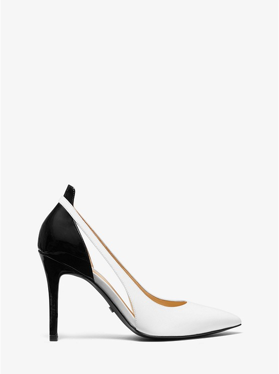 08ee747dae2c ... Cersei Two-Tone Leather Cutout Pump ...