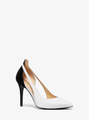 244918728638 Cersei Two-Tone Leather Cutout Pump