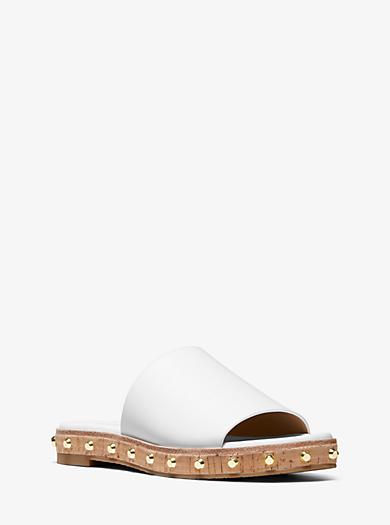 d1208e8284b Ellen Leather Slide Sandal. michael michael kors · Ellen Leather Slide  Sandal