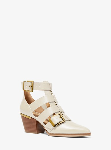 Michael Michael Kors Griffin Leather Cutout Bootie