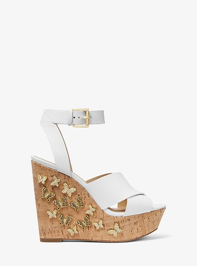 e7cc14f68fab Lacey Butterfly Embellished Leather Wedge | Michael Kors