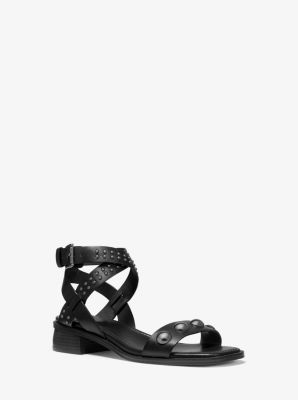 Michael Kors Garner Studded Leather Sandal
