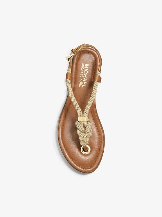 256e4d5a3f3b Holly Rope-trim Leather Sandal