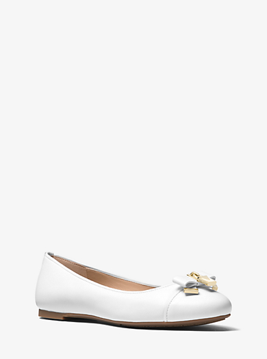 4b9abff539820 Alice Leather Ballet Flat | Michael Kors