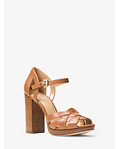Annaliese Leather Platform Sandal