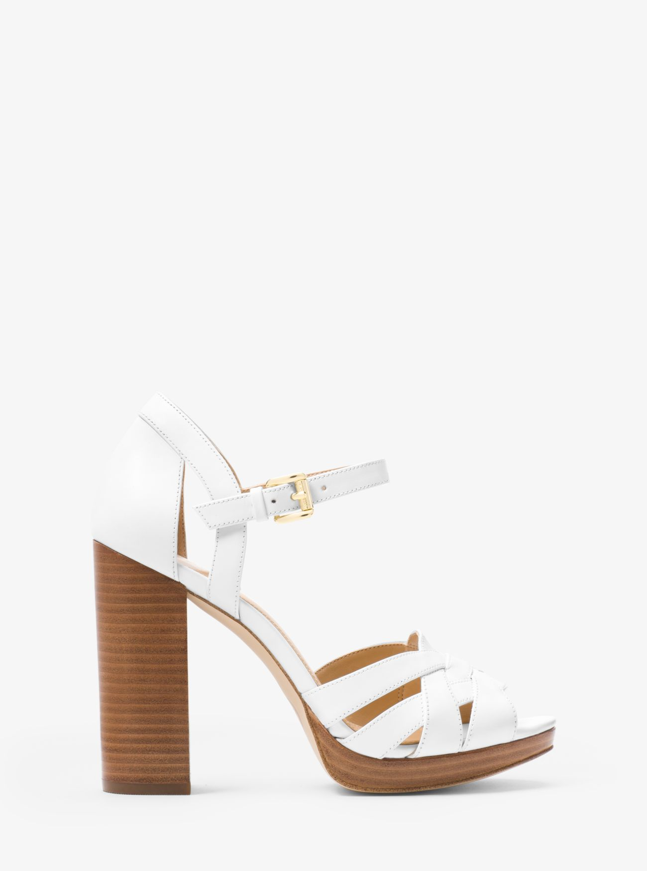 Annaliese Leather Platform Sandal Michael Kors
