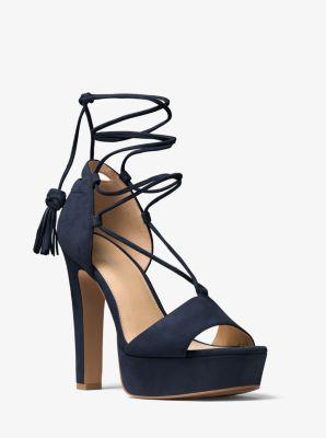 dd0527b666e4 Rosalie Suede Lace-up Platform Sandal